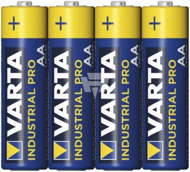 VARTA Industrial AA Mignon 4er Folie;LR6 VAR4006 Alkaline 1,5V; 30/600/400/40 Preis: 1x 4er in Folie