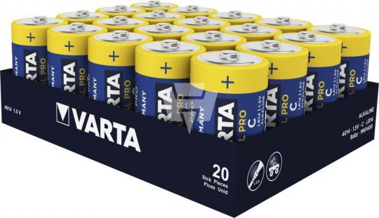 VARTA 4014 Industrial BABY C AlMn 1,5V,7800mA lose LR14, je 20 Stück
