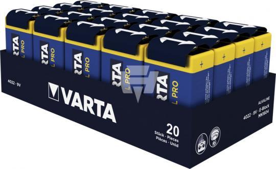 VARTA 4022 Industrial 9V Block,AlMn 9V/640 mAh lose je 20 Stück