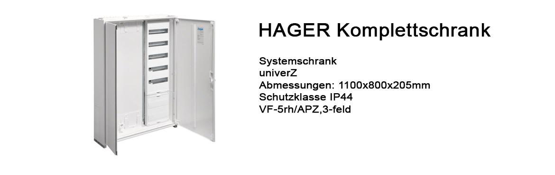 Banner Hager Schaltschrank